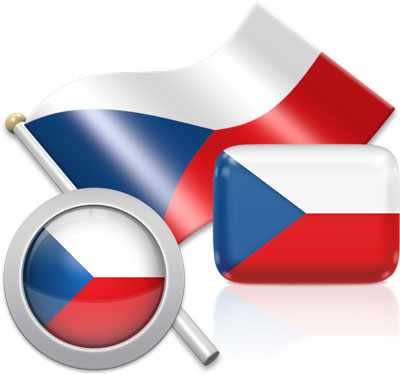 Czech flag icons pictures collection