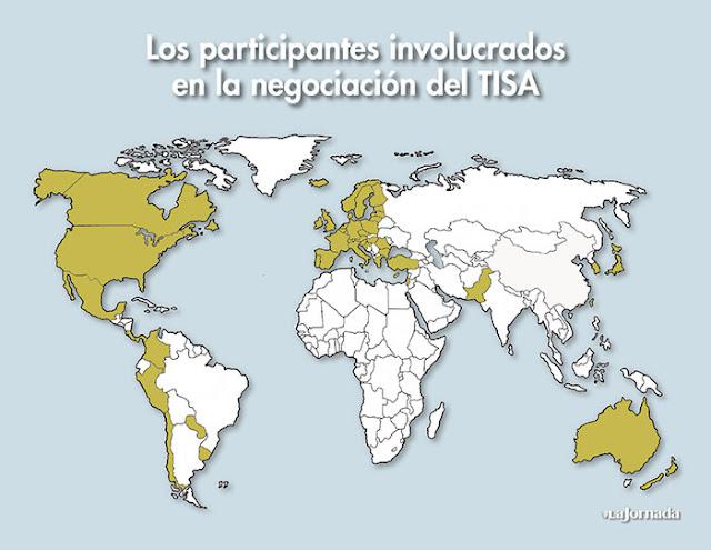 TISA paesi partecipanti
