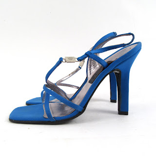 Gianni Versace Strappy Blue Sandal Pump