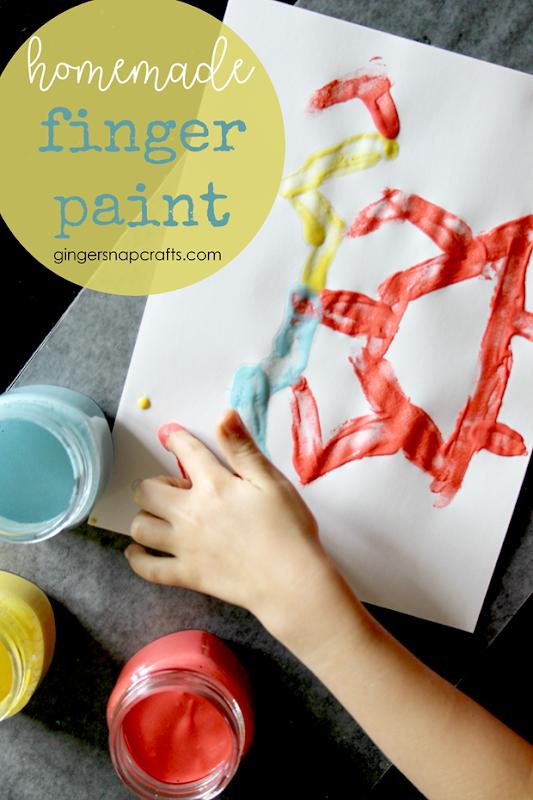 homemade finger paint recipe at GingerSnapCrafts.com #diy #kids #kidcrafts