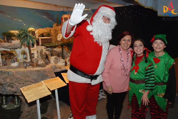 Papa Noel visita nuestros Belenes