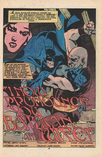 O dia em que Batman casou com Talia