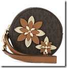 Michael Michael Kors Flower Leather Pouch