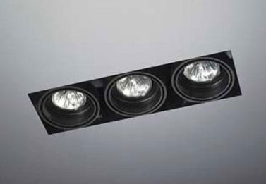 The Multidir Trimless LX635 - Triple Downlight, low voltage MR16 3 x 50W ceiling architectural light