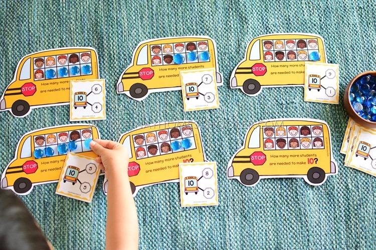 School Bus Ten Frame Number Bonds