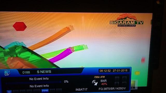 sivaflysat: Sigaram TV (சிகரம் டிவி) New Tamil