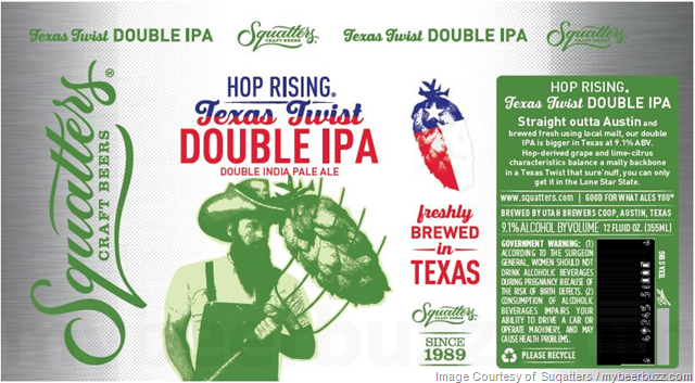 Squatters Adding Hop Rising Texas Twist DIPA