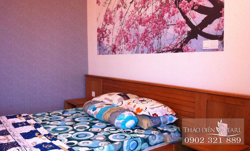 bức tranh tại phòng ngủ căn hộ thảo điền pearl