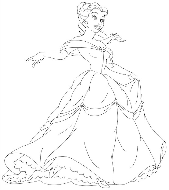 Free Printable Disney Princess Coloring Pages For Kids In Printable  Princess Coloring Pages
