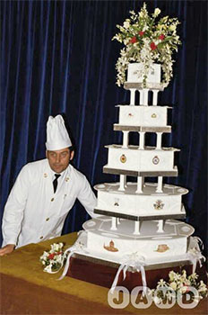 This Photo Was Found Courtesy Of Google The 5 Tiered Foot Tall Wedding Cake From 1981 A Recipe Surfaced Last Fall When Traveling Princess Diana