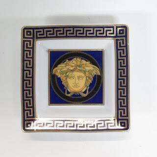 Versace + Rosenthal 'Medusa Blue' Trinket Dish