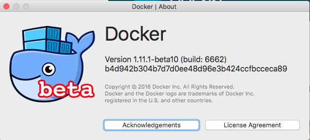 Docker beta