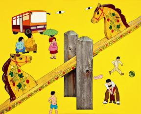 황주리, 그대안의 풍경, 2010, 130x162cm, 캔버스에 복합매체, 아크릴릭 1