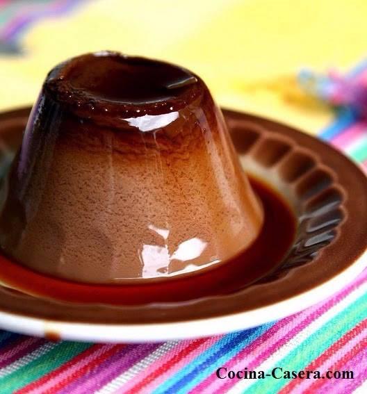 receta Flan casero Chocolate Cafe