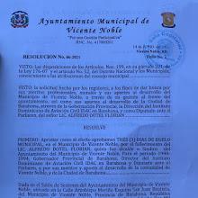 Alcaldía de Vicente Noble declara tres días de duelo por el fallecimiento de Alfredo Dotel exsindico.