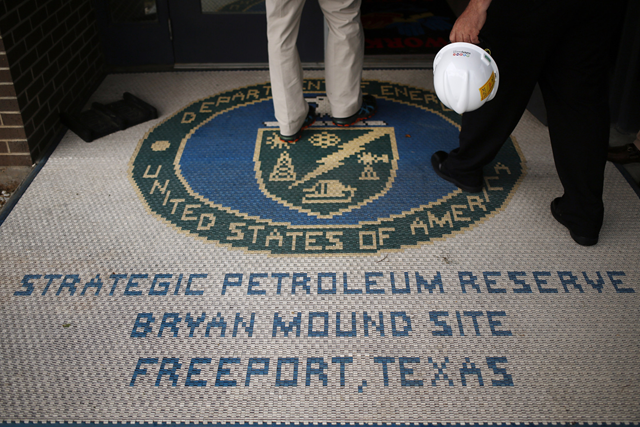 Entry to the U.S. Strategic Petroleum Reserve, Bryan Mound Site, Freeport, Texas. Photo: Bloomberg