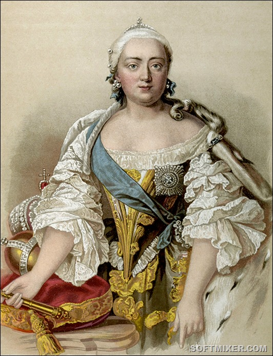 Elizaveta Petrovna, known as Elizabeth, Empress of Russia (1741Ц1762), daughter of Peter the Great and Catherine I of Russia.