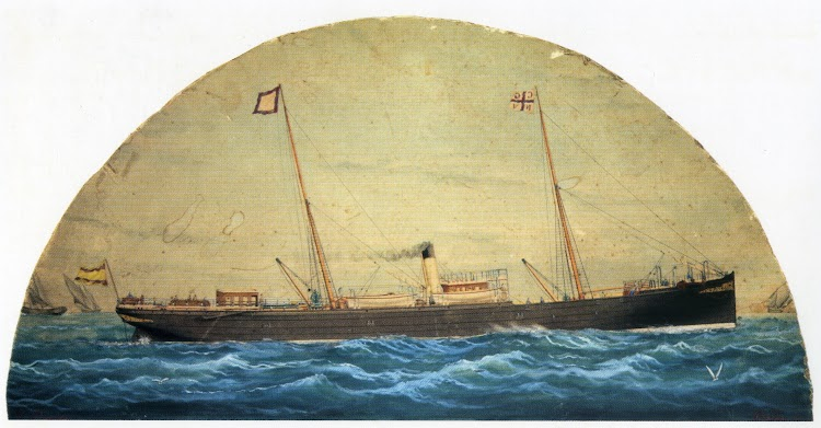 Vapor GIJON. Acuarela de Jose Pineda. Museo Maritimo de Asturias. Del libro Historia de la Marina Mercante Asturiana. Vol II.jpg