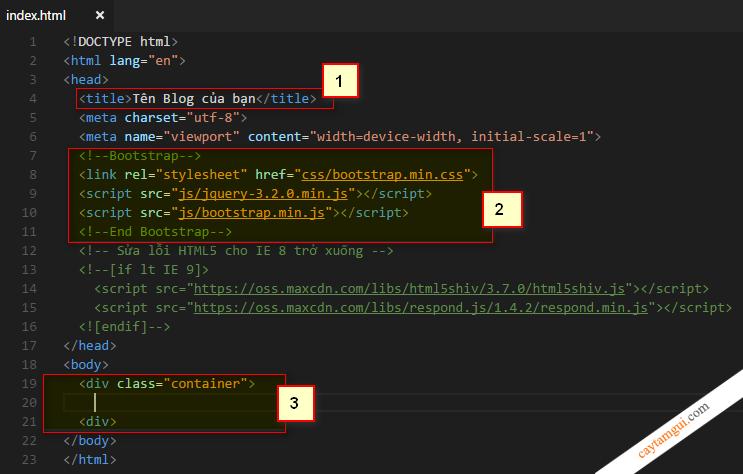 Thiết kế giao diện website responsive bằng Bootstrap qua ví dụ cụ thể