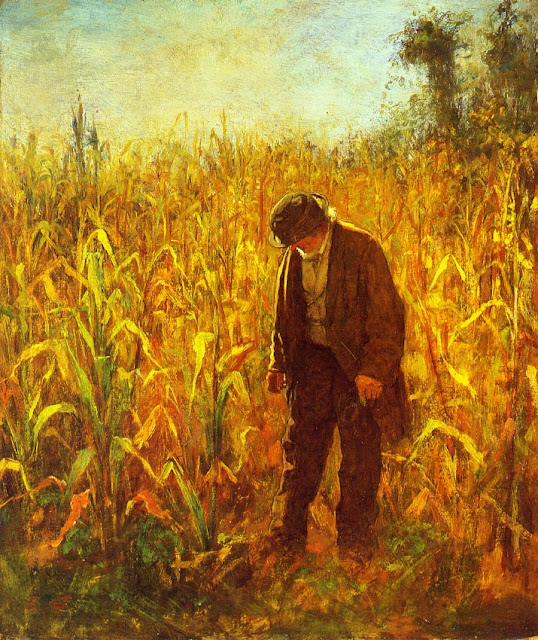 Eastman Johnson - Man in a Cornfield