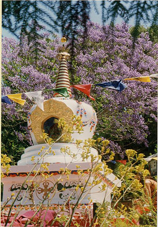 Victory Stupa at Chenrezig Institute. Eudlo, Queensland, Australia.