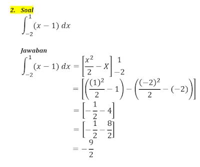 contoh integral tentu 2