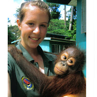 2007.  Rachel Quinn.  Sponsored by Bradford on Avon Lions Club to volunteer at the Sepilok Orangutan Centre, Malaysia