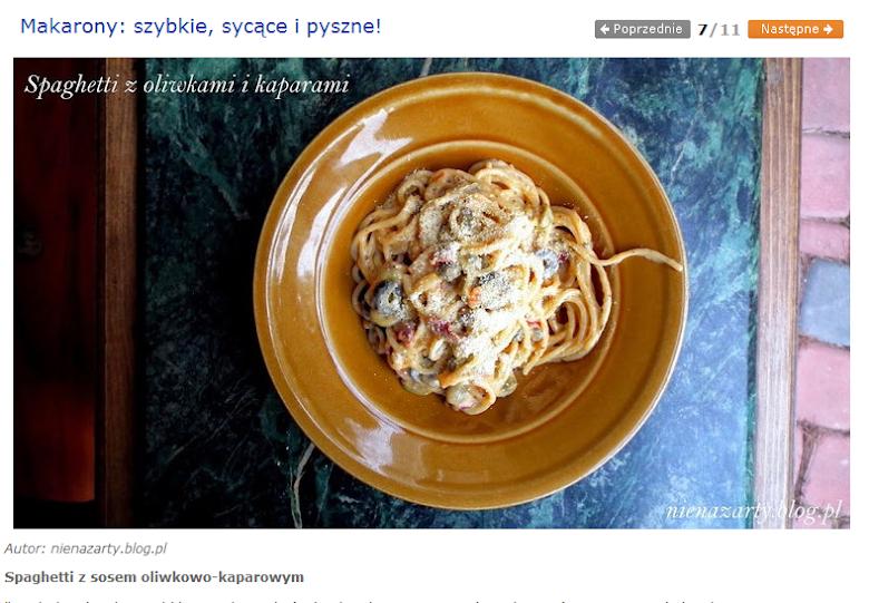 spaghetti z oliwkami i kaparami