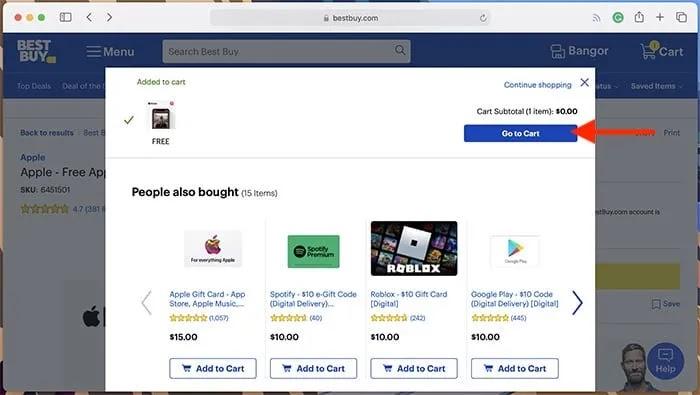 تمت إضافة الإصدار التجريبي المجاني من Apple Music إلى عربة التسوق Best Buy