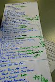 the karaoke sign-up list...