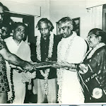 with art historian Jagdish Mittal and Kamala Mittal, Mid 1970's.jpg