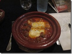 Lamb and egg tajine