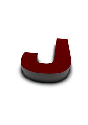 lettre 3D rouge de Chine - J - images libres de droit