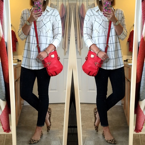 plaid and leopard, how to pattern mix, mom fashion