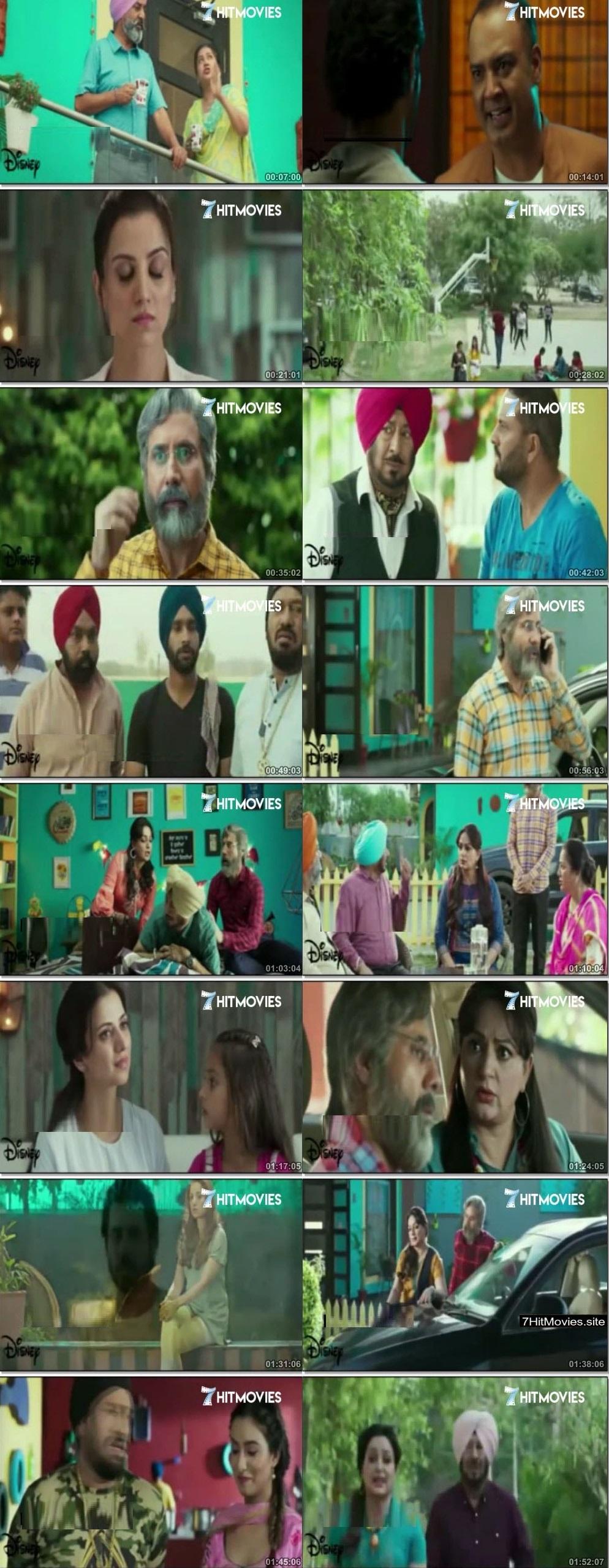 Screen Shot Of Naukar Vahuti Da 2019 300MB PdvdRip 480P Full Punjabi Movie Watch Online Free Download
