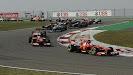 Fernando Alonso leads with Ferrari F138