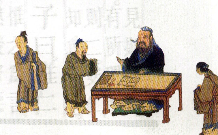 Confucius With Students, Confucius