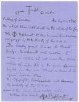 1907 Diary Fragments
