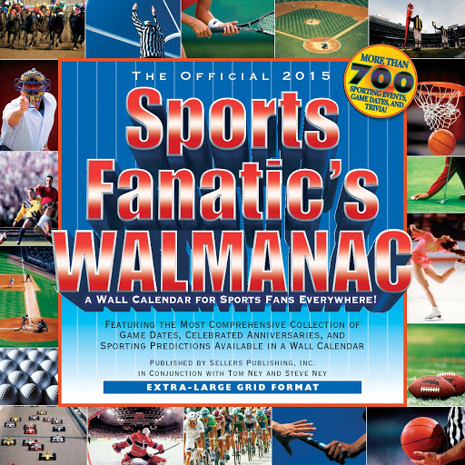Text Books - The Official Sports Fanatic's Walmanac 2015 Wall Calendar