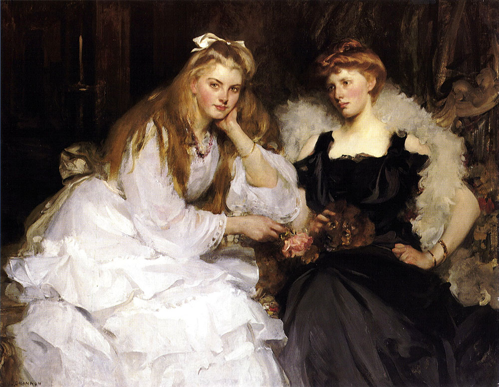 James Jebusa Shannon - Lorna and Dorothy Bell, Daughters of W. Heward Bell, Esq.