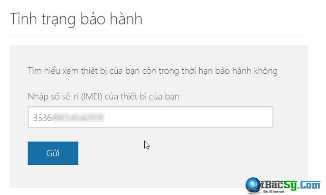 Hướng dẫn kiểm tra hạn bảo hành cho Windows Phone - Check IMEI + Hình 3