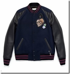 Dark Disney Varsity Jacket in NavyBlack (34199NVBK)