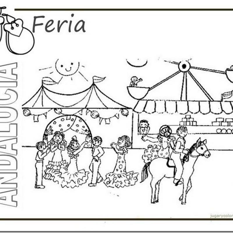 Dibujos del Día de la Comunidad Autónoma de Andalucía para pintar