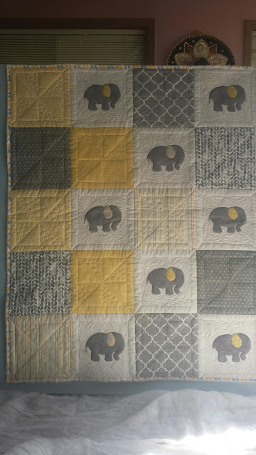 Seamingly Slawson Quilts Elephant Baby Quilt