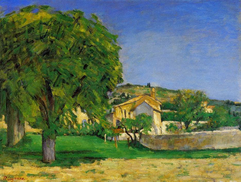 Paul Cézanne - Chestnut Trees and Farmstead of Jas de Bouffan