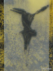 """Mensch"", Glas, Schwarzlot, Lambertglas, verformt, 2009"