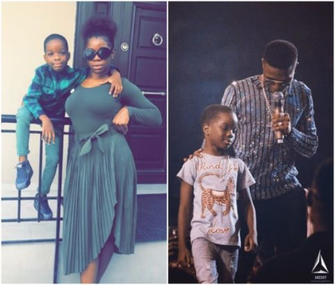 Wizkid's Baby Mama Reacts To Photo Of Him Bringing Out Their Son On Stage At His Concert