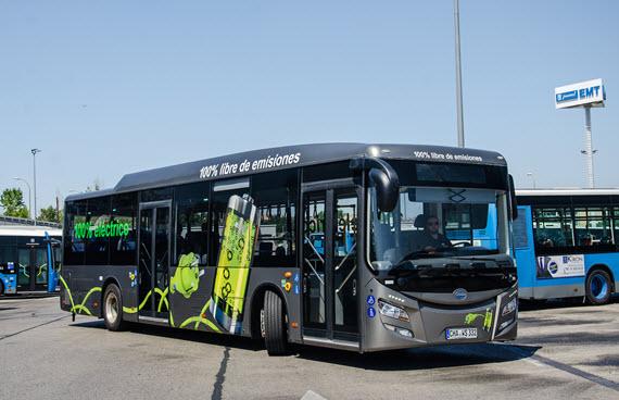 La EMT prueba el autobús eléctrico Eurabus 2.0
