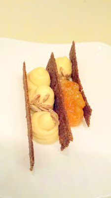Chefs Week PDX 2/7/16 West Coast 2016 Dinner - Eve Kuttemann presents Brown Bread Mille Feuille, Sorghum Cream, Charred Orange Marmalade, Malted Rye