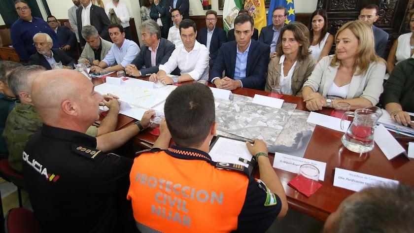 El presidente Sánchez en Níjar en septiembre de 2019.